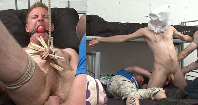 Sexy backpacker knocked out, hooded, tied up