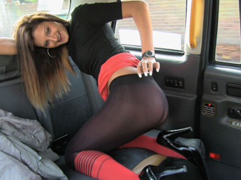 Taxi seduction with anal sex