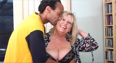 Horny loves to fool around with her black boyfriend.