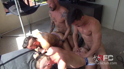 Brutal Gangbang With Muscle Bears