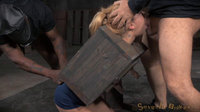 Alina West – Tiny Blonde Cutie Bound In A Box And Fucked From Both Ends (2015)