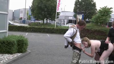 Pregnant fucked on the sidewalk