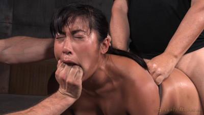 Busty Mia Li belted