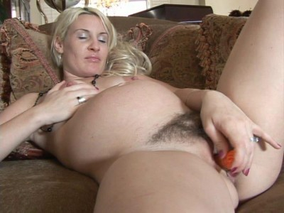 Pregnant blonde masturbates in dreams