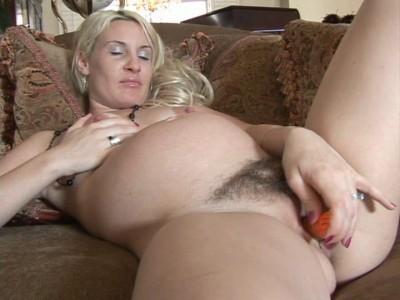 Pregnant blonde masturbates in dreams