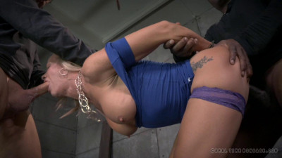 RealTimeBondage Simone Sonay worked over hard by 2 cocks