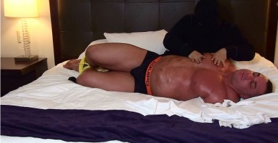 Chaz Ryan hogtied and worshipped