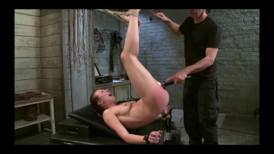 Slave training for a cute brunette 1 of 4