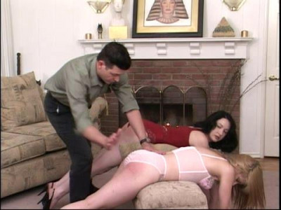 Both Adorable Young Women Submit To Over The Knee, Bare Bottom Spankings