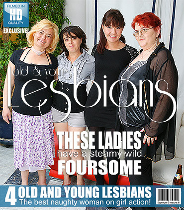 Four old and young lesbians