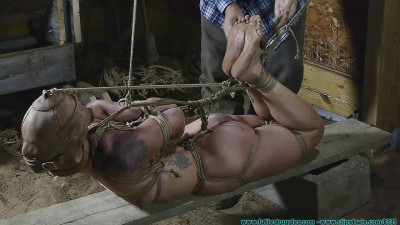 Illustrious Rouge Is Wecomed Back With A Tight Crotchrope And A Hooded Hogtie – Part 3