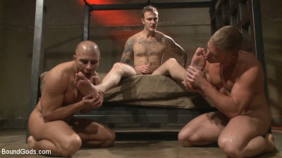 Newcomer vs Veteran — Slaves Compete to Satisfy Their Masters
