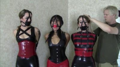 Three Lady Latex Party