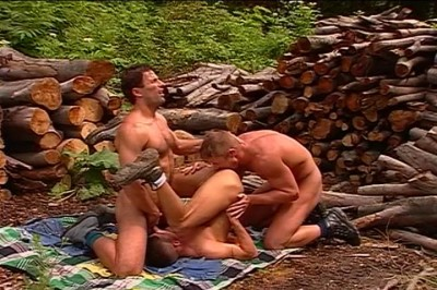 Three Gay Guys Sucking Dicks In Timber Yard