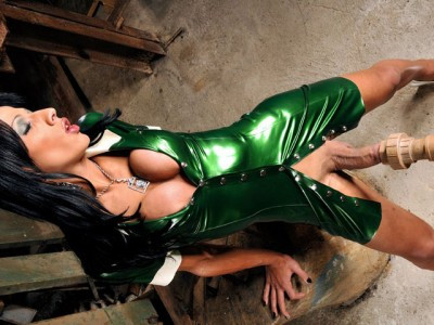 Nicollys Big Cock Bursts Out of Latex