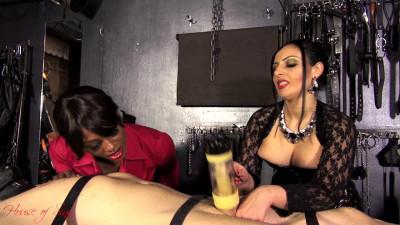 Mistress Ezada Sinn & Mistress Ava Black - Milking Machine
