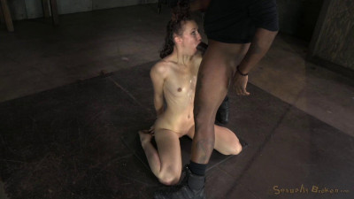Throat slut in brutal domination