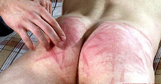 Bound By His Wrists And Ankles, Arse Caned