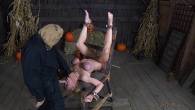 Busty milf Darling crucified and anally fucked