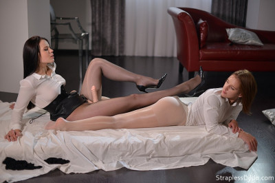 Danielle Sits on Ella Martin's Face Dildo
