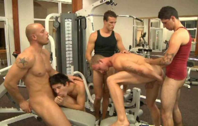 Amazing Gangbang At Gym