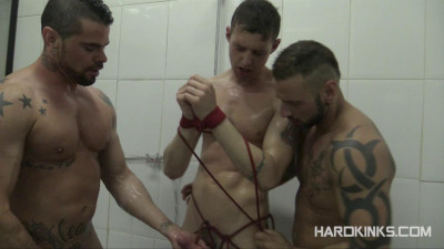 Dominated In The Shower 2 Antonio Miracle, Jace Tyler, Mario Domenech (2014) (video, online, room, show)