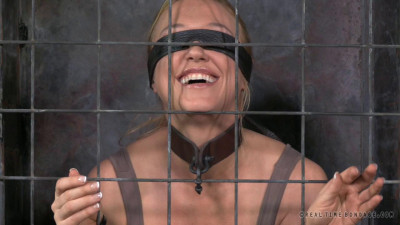 Real Time Bondage – Darling Blindfolded, Caged And Tagteamed By Dick – Apr 1, 2014