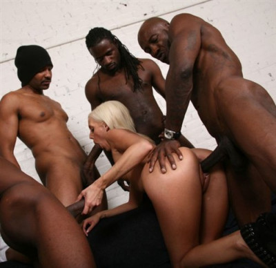 The Interracial Gangbang