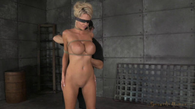 Big Titted Blonde Courtney Bound Blindfolded And Facefucked