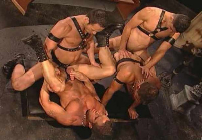 Rough Gangbang With Muscle Men