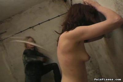 PainVixens Brunette captive torment