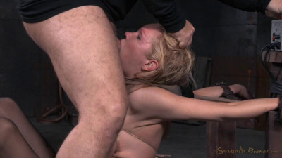 SexuallyBroken – Jun 26, 2015 – Big Breasted Blonde Rain DeGrey Belted Down On Fucking Machine