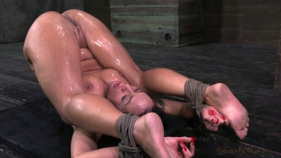 Mahina Bound In A Pile Driver Position Fucked Made To Squirt