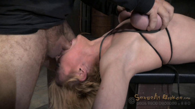 RealTimeBondage Darling Has Huge Squirting Orgasms In Bondage With Epic Deepthroat On BBC