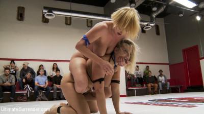 Big Tittied Blond Tag Team Match UP