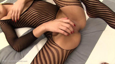 Pink – Tight Striped Bodysuit Creampie