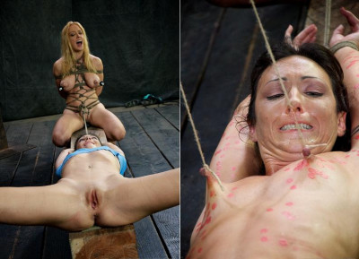 Sweet girls in super bondage