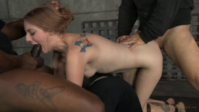 Stunning Ela Darling tied face down ass up and stuffed full of hard cock, brutal deepthroat on BBC!
