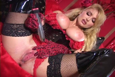 Blond babe going mad