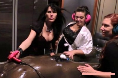 Be Careful What You Wish For – Rubber Vacbed FemDom Foursome
