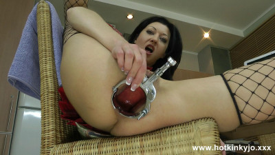Anal big speculum and deep dildo (2014)