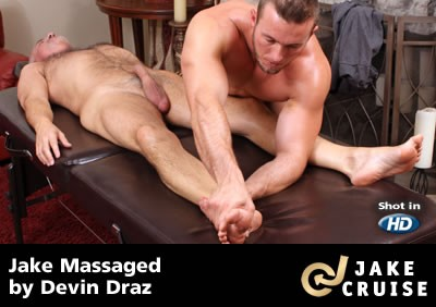 Devin Draz Massages Jake Cruise