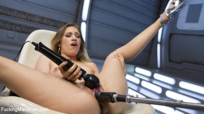 Fresh Meat - Long Legged Blonde Gets Ravaged by Fucking Machines
