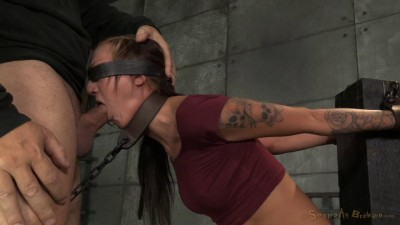 Kendra Cole is chained down with brutal pounding deepthroat by 2 hard cocks!