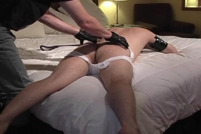 Sensual gay spanking