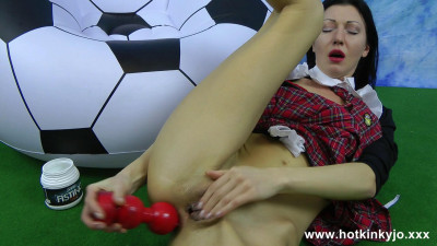 Soccer schoolgirl anal fun red toy (2015)