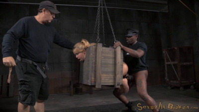 Little Alina West Blindfolded Bound In A Box And Fucked Hard