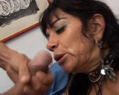 Busty milf seduces a guy