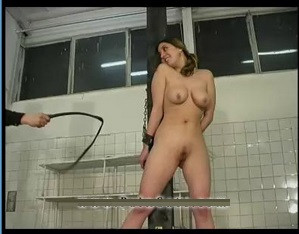 A schoolgirl's Whipping-post Punishment