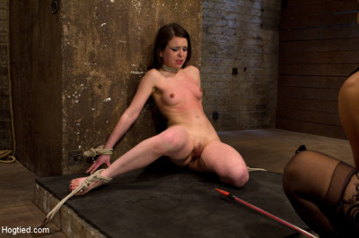 Predicament bondage as Juliette body is abused with pain & pleasure!  Multi-orgasms, pussy torture!